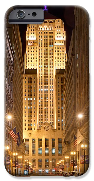Board iPhone Cases - Chicago Board of Trade 5 iPhone Case by Kevin Eatinger