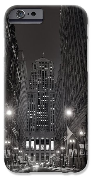 Sears Tower iPhone Cases - Chicago Board of Trade B W iPhone Case by Steve Gadomski
