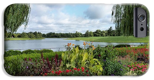 Willow Lake iPhone Cases - Chicago Botanical Gardens - 95 iPhone Case by Ely Arsha