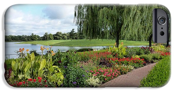 Willow Lake iPhone Cases - Chicago Botanical Gardens - 96 iPhone Case by Ely Arsha
