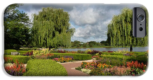 Willow Lake iPhone Cases - Chicago Botanical Gardens - 97 iPhone Case by Ely Arsha