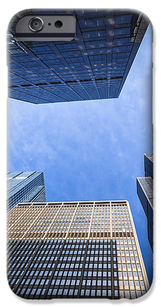 Chicago Buildings Upward View with Willis-Sears Tower iPhone Case by Paul Velgos