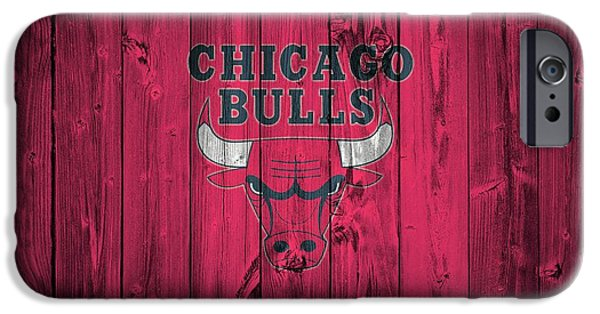 Jordan Mixed Media iPhone Cases - Chicago Bulls Barn Door iPhone Case by Dan Sproul