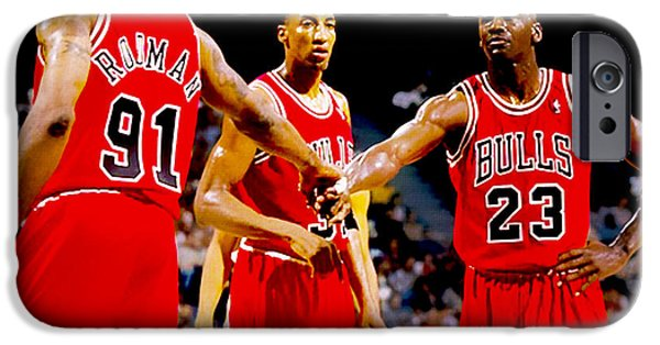 Carmelo Anthony iPhone Cases - Chicago Bulls Big 3 iPhone Case by Brian Reaves