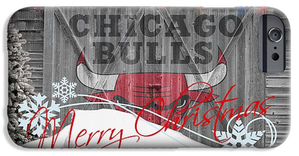 Basket iPhone Cases - Chicago Bulls iPhone Case by Joe Hamilton