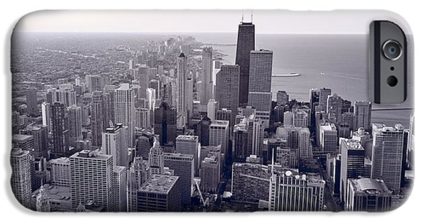 Chicago iPhone Cases - Chicago BW iPhone Case by Steve Gadomski