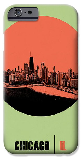 Sears Tower iPhone Cases - Chicago Circle Poster 1 iPhone Case by Naxart Studio