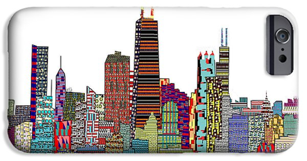 American ist Mixed Media iPhone Cases - Chicago city  iPhone Case by Bri Buckley
