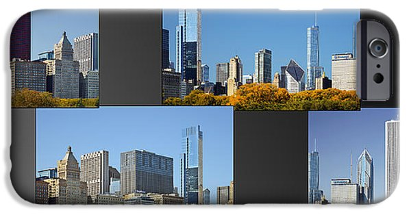 Interior Scene iPhone Cases - Chicago City of Skyscrapers iPhone Case by Christine Till