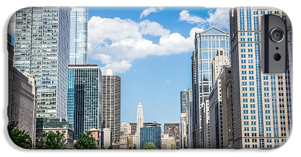 Business iPhone Cases - Chicago Cityscape Downtown Buildings iPhone Case by Paul Velgos