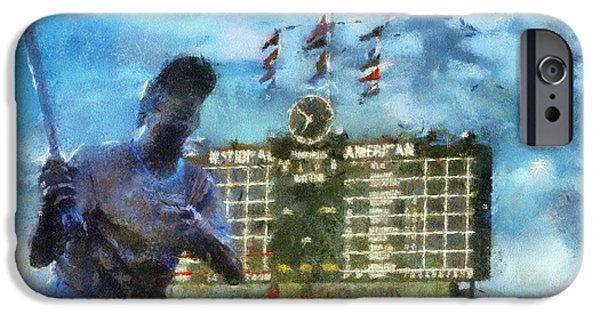 Chicago Cubs Digital iPhone Cases - Chicago Cubs Billy Williams 02 Photo Art iPhone Case by Thomas Woolworth