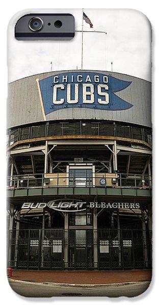 Chicago Cubs iPhone Cases - Chicago Cubs  iPhone Case by Patrick  Warneka