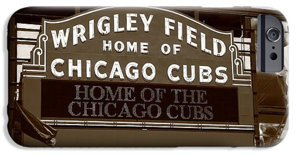 Wrigley iPhone Cases - Chicago Cubs - Wrigley Field 25 iPhone Case by Frank Romeo
