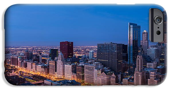 Willis Tower iPhone Cases - Chicago Dawn iPhone Case by Steve Gadomski