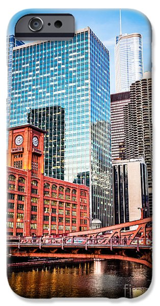 Quaker iPhone Cases - Chicago Downtown at LaSalle Street Bridge iPhone Case by Paul Velgos