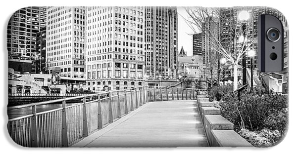 Wrigley iPhone Cases - Chicago Downtown City Riverwalk iPhone Case by Paul Velgos