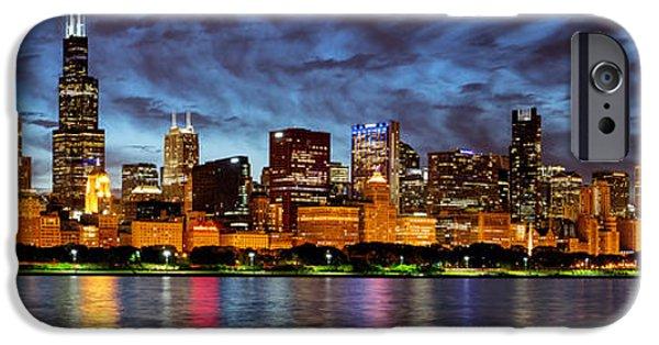 Willis Tower iPhone Cases - Chicago Evening Reflections 2014 iPhone Case by Matt Hammerstein