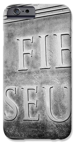 Chicago Field Museum Sign in Black and White iPhone Case by Paul Velgos