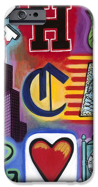 Chicago Paintings iPhone Cases - Chicago Flag iPhone Case by Carla Bank
