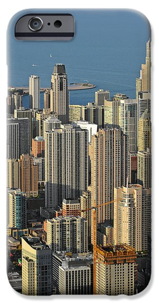 Interior Scene iPhone Cases - Chicago from above - What a view iPhone Case by Christine Till