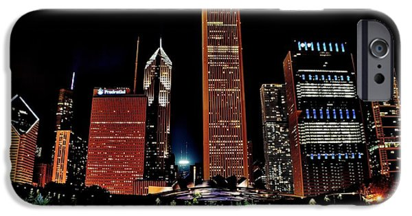 Chicago Cubs iPhone Cases - Chicago From Millennium  Park iPhone Case by Frozen in Time Fine Art Photography