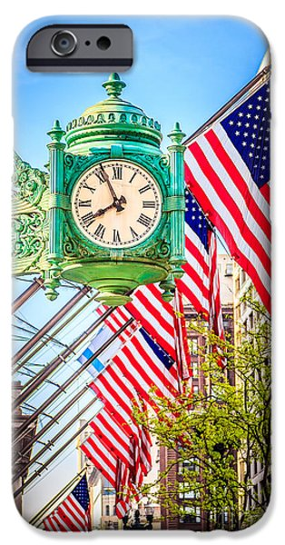 Macy iPhone Cases - Chicago Great Clock on Macys Building iPhone Case by Paul Velgos