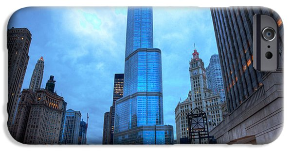 Wrigley iPhone Cases - Chicago Heart of the City iPhone Case by Wayne Moran