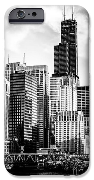 Willis Tower iPhone Cases - Chicago High Resolution Picture in Black and White iPhone Case by Paul Velgos