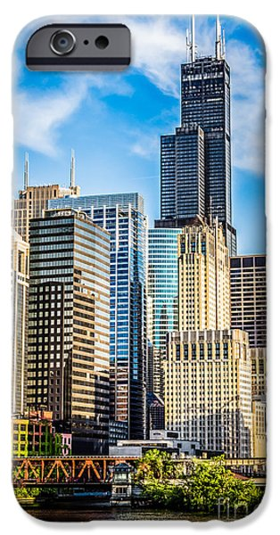 Buildings iPhone Cases - Chicago High Resolution Picture iPhone Case by Paul Velgos