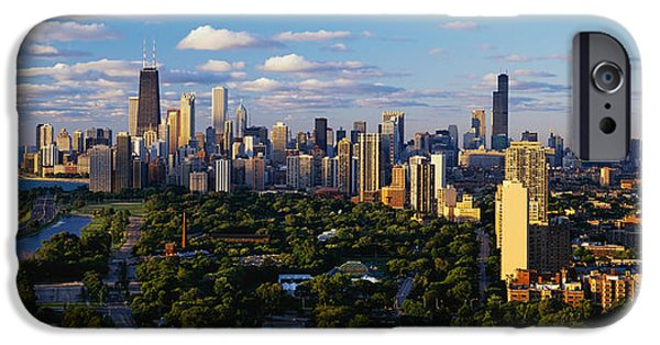 Buildings iPhone Cases - Chicago Il iPhone Case by Panoramic Images