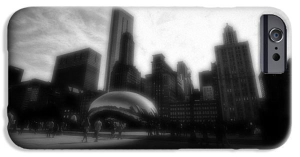 The Bean iPhone Cases - Chicago Illinois Dreamy Edit Skyline iPhone Case by David Haskett
