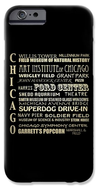 Wrigley Field Digital Art iPhone Cases - Chicago Illinois iPhone Case by Patricia Lintner