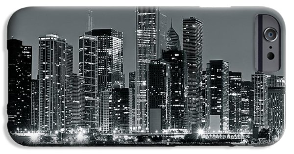 High Park Fire iPhone Cases - Chicago in Charcoal Gray iPhone Case by Frozen in Time Fine Art Photography