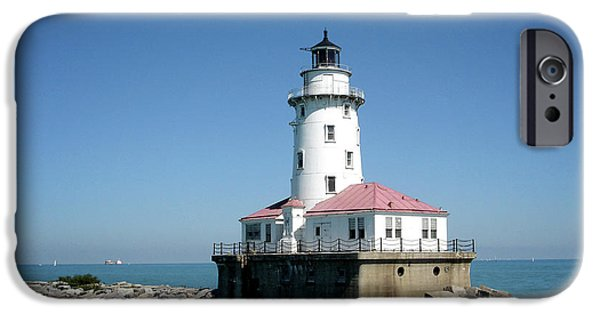 Chicago iPhone Cases - Chicago Lighthouse iPhone Case by Julie Palencia