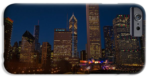 Millennium Park iPhone Cases - Chicago Lights iPhone Case by Steve Gadomski