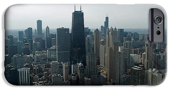 Building iPhone Cases - Chicago Looking South 01 iPhone Case by Thomas Woolworth