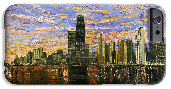 Best Sellers -  - Chicago iPhone Cases - Chicago iPhone Case by Mike Rabe