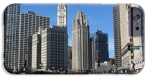 Miracle iPhone Cases - Chicago Miracle Mile 1 iPhone Case by Anita Burgermeister