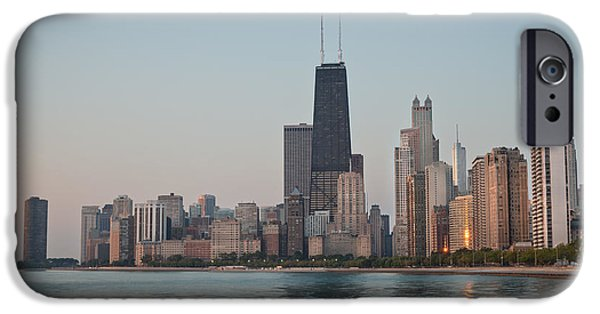 Chicago Photographs iPhone Cases - Chicago Morning iPhone Case by Steve Gadomski