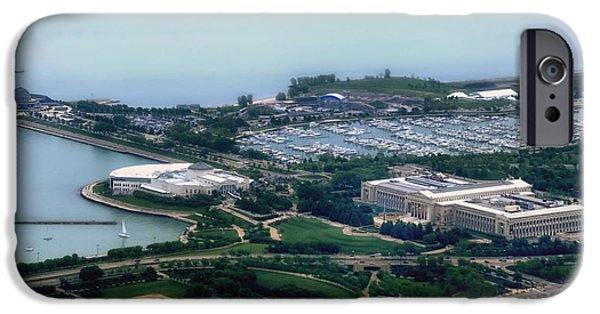Soldier Field iPhone Cases - Chicago Museum Park On The Lake Front iPhone Case by Thomas Woolworth