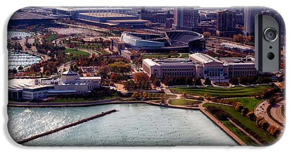 Soldier Field iPhone Cases - Chicago Museum Park iPhone Case by Thomas Woolworth