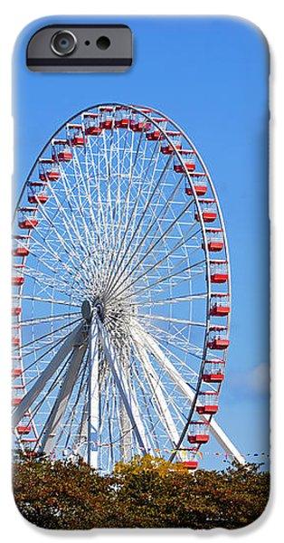 Chicago Navy Pier Ferris Wheel iPhone Case by Christine Till