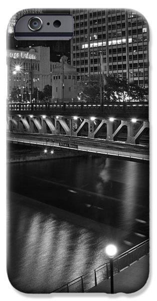 Wrigley Field iPhone Cases - Chicago Nights iPhone Case by Frozen in Time Fine Art Photography