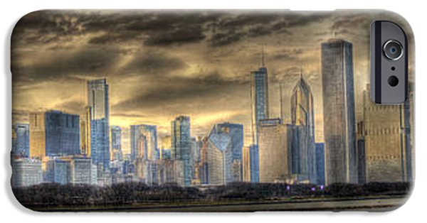 Willis Tower iPhone Cases - Chicago On The Lake iPhone Case by David Bearden