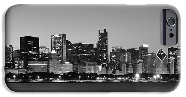 Wrigley Field iPhone Cases - Chicago Panorama iPhone Case by Frozen in Time Fine Art Photography