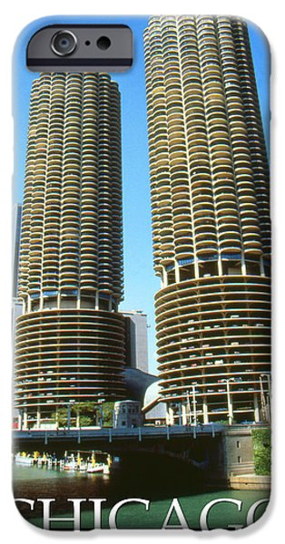 Best Buy Mixed Media iPhone Cases - Chicago Poster - Marina City iPhone Case by Peter Fine Art Gallery  - Paintings Photos Digital Art