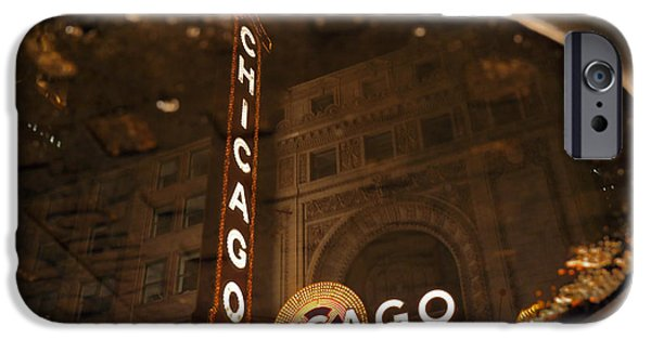 Sears Tower iPhone Cases - Chicago Puddle iPhone Case by Steve Kuzminski