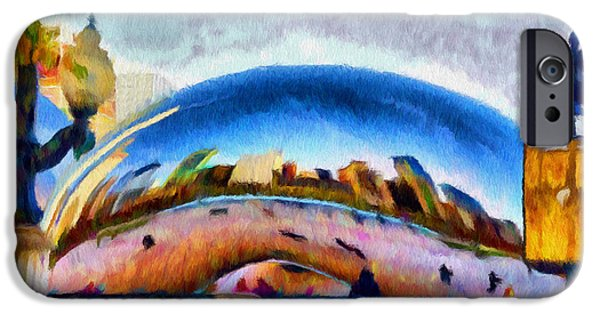 The Bean iPhone Cases - Chicago Reflected iPhone Case by Jeff Kolker