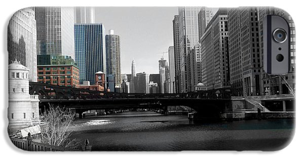 Franklin iPhone Cases - Chicago River at Franklin Street iPhone Case by David Bearden
