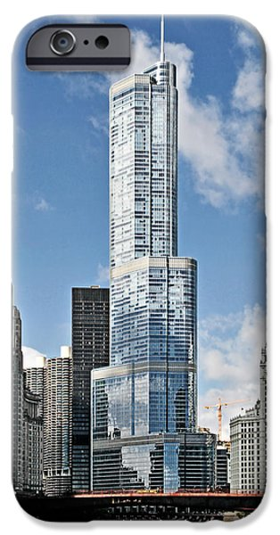 States iPhone Cases - Chicago River - Beauty and Headache iPhone Case by Christine Till